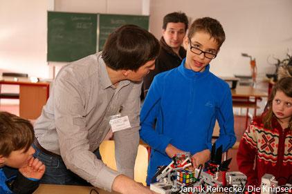 Beeindruckende Technik gab's bei den Lego Mindstorm Robotern zu sehen.