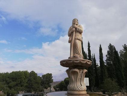 Statue of a shepherd in the Shepherds Field