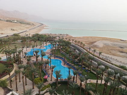 Ein Bokeq resort area at the Dead Sea
