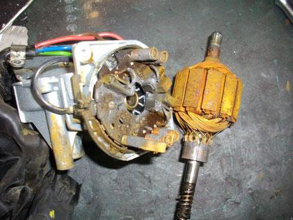 Jeep TJ ラングラー ワイパー動作不良 ワイパーモーター修理