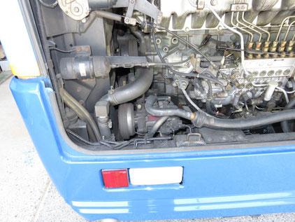バス 三菱フソウ エアロミディ エアコン修理 コンプレッサー入らない