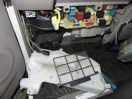 デュトロ(ダイナ) XZU36 エアコン修理 コンデンサファン コンプレッサー交換