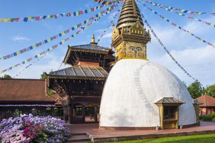 Nepal Himalya Pavillon bei Regensburg.