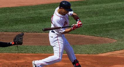 Nella foto Mookie Betts dei Red Sox