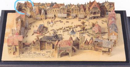 Hoher Markt 1692 -Modello in legno nel Museo del Prater, Vienna