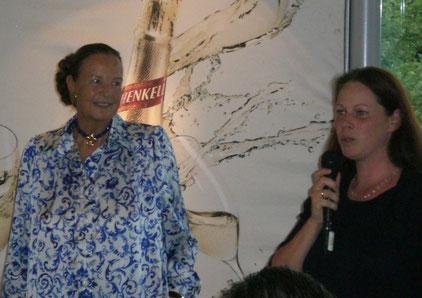 Spende für den Kinderschutzbund Murrhardt (v.r.):  Melanie Tritschler, Rosely Schweizer