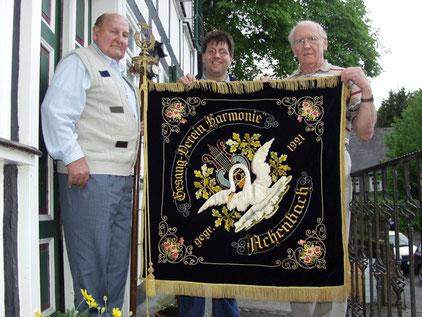 Bild: Gustav Wolters,(links) Günther Langer,(mitte)  Richard Wagener(rechts)