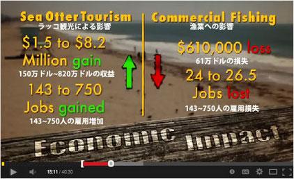 ラッコによる経済への影響