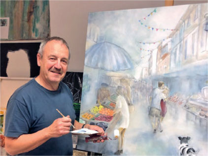 Leidenschaftlicher Musiker und Maler: Stephan Marty aus Herschmettlen. Bild: zvg