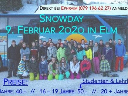 Ab auf die Piste! Cevi Snow Day. Bild: Cevi Gossau ZH