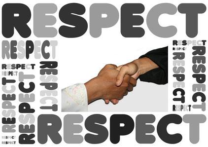 Respect - Händeschütteln