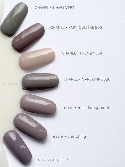 swatch CHANEL GARCONNE 520 Vergleich / comparison