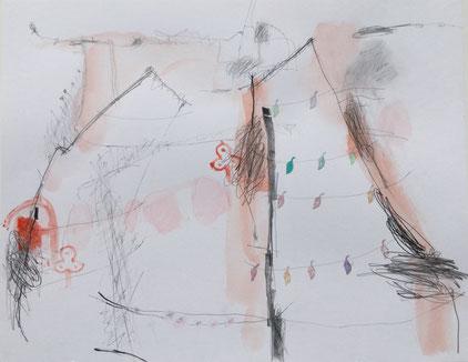 Erwin Auer, Künstler Acryl auf Papier