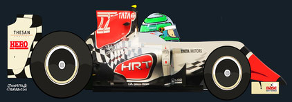 Vitantonio Liuzzi by Muneta & Cerracín - HRT F111 - Cosworth
