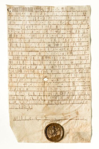 Würzburger Urkunde von 1150 / StAWt-R US 1150 Juli 8