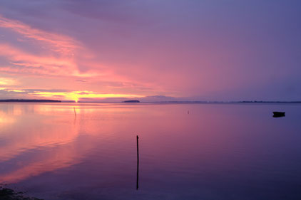 Sonnenuntergang an der Dänischen Ostseeküste