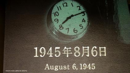 Jour funeste à Hiroshima, Japon, photo non libre de droits.