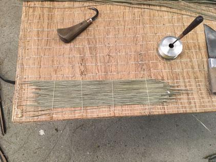 ワラ畳床の修繕