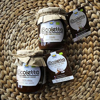 Govinda - Kokosmilch-Creme Natur und Schoko