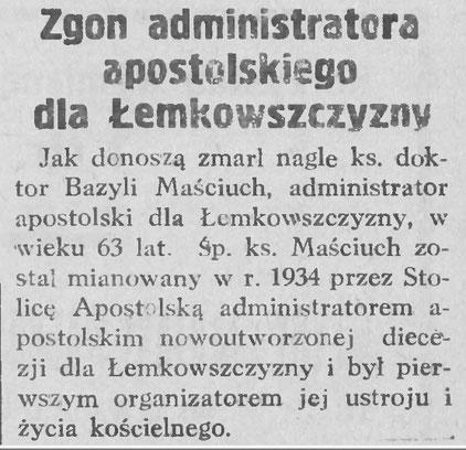zgon administratora lemkowszczyzny gazeta wagrowiecka