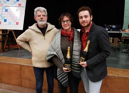 Quentin Lecointre à droite avec Marie-Hélène Gandy et Philippe Legrand