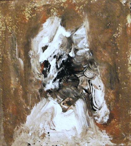 Hyäne, Acryl auf Hartfaser, 40x30, 2012