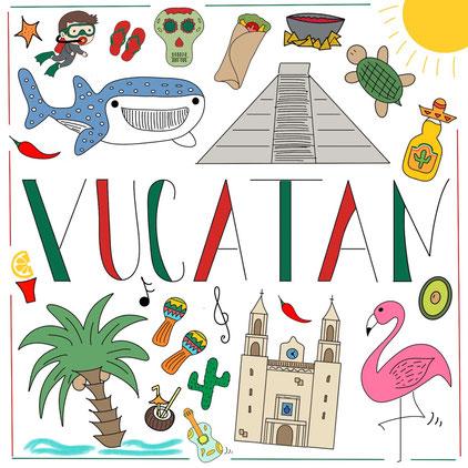 Mein Sketchnotes ABC - Y wie Yucatan