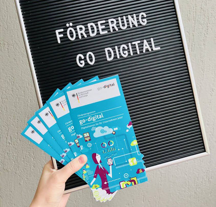 Flyer Förderung Go Digital