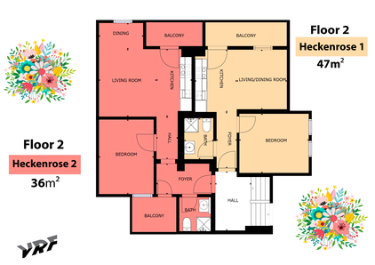 Skizze Ferienwohnung Heckenrose II