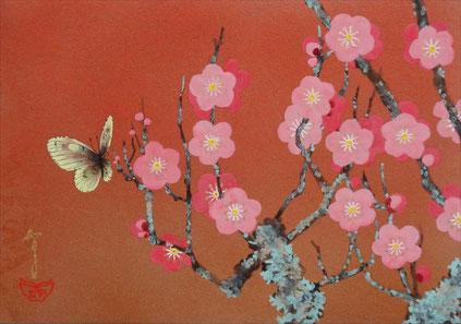 「春の香り」紙本岩彩 SM 47,250円