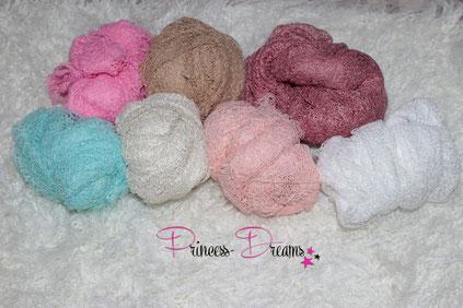 wunderschöne Wraps,Tücher bestens geeigent für die Newborn-Babyfotografie  zum Pucken, Einwickeln, Drüberlegen, oder als Hintergrund u.v.m. Stretchwrap Neugeborenes Baby Neugeborenen Stretchy Wrap Wrapping Pucken Tuch