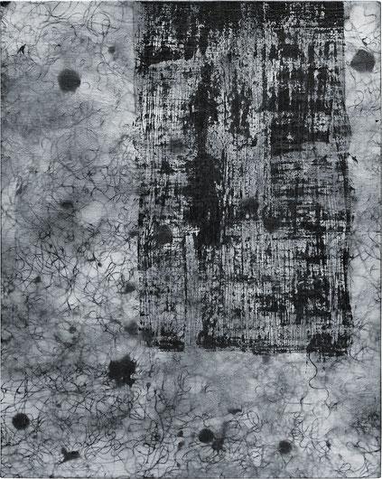 Katharina Lehmann, Breeze no.2, 50 x 40 cm / 20 x 16 in, 2019 · Acrylic, pencil on canvas