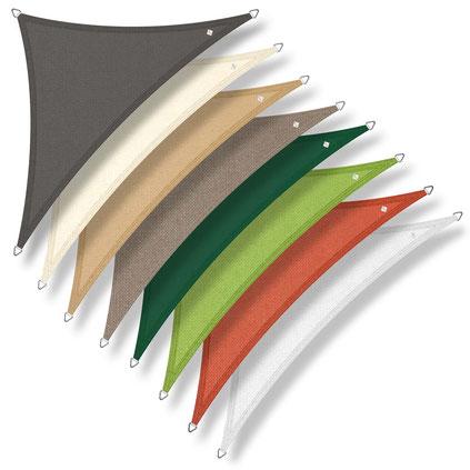 vele #tende #sole #traspirante #ombreggiante #ombra #triangolo #triangolare #antivento #antistrappo #parasole