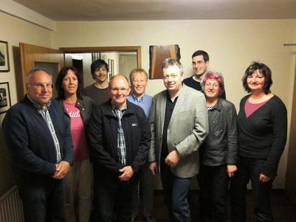 Der Vorstand im Gründungsjahr (Foto: P. Nissen)
