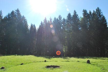 Steinkreis für Feuerrituale und Gruppenveranstaltungen