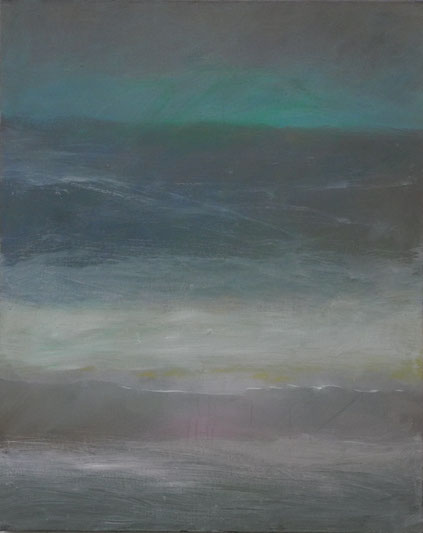 Brandung, Öl/Leinwand, 100 x 80 cm, 2017