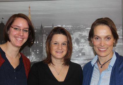 Der Vorstand von SchülerFlex, von links: 2. Vorsitzende Anna Kießler, Kassiererin Alexandra Schmelcher, 1. Vorsitzende Gudula Böckenholt