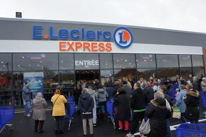 Dormans (Marne). Le magasin E. Leclerc Express.