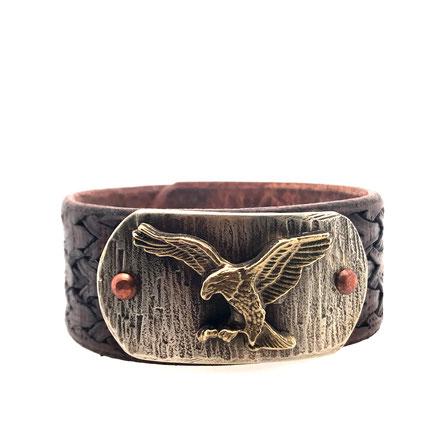 eagle leatherbracelet  | lederarmband mit Motiv