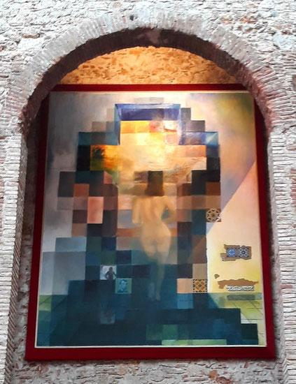 ОБнаженная Гала, смотрящая на море - шедевры Театра-музея Дали