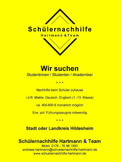 Nachhilfe Jobs: Wir suchen Studierende für Hildesheim Stadtgebiet