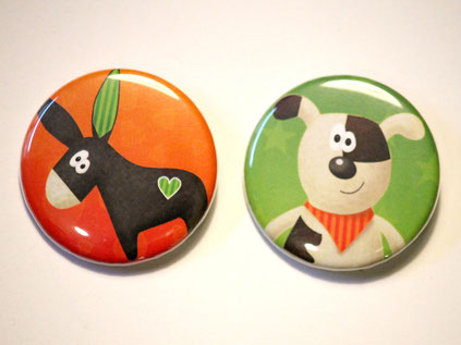 Buttons Hund und Esel - Coccoloso