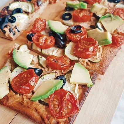 Fitness Pizza Mandelmehl Low Carb Vegetarisch Rezept Hauptspeise