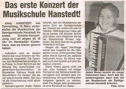 Nordheide Wochenblatt März 1989