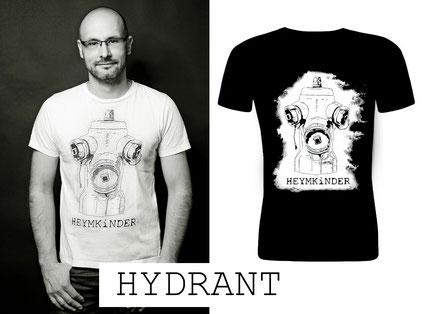 """Herren Shirt """"Hydrant"""" weiß oder schwarz"""
