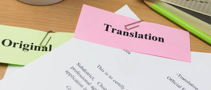 A translated document and an original