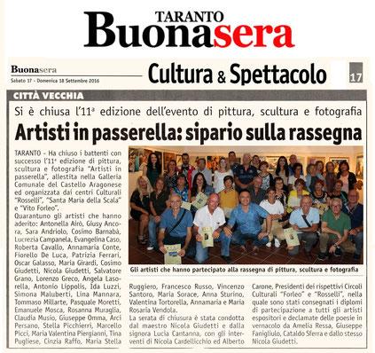 Articolo di Taranto BuonaSera dell' 11 settembre 2016