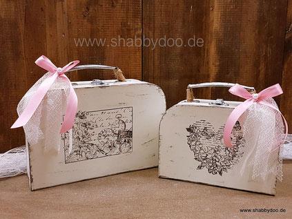 Koffer shabby chice Deko Idee