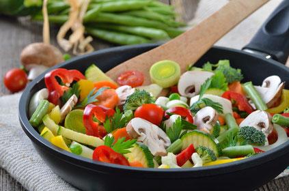 Vegetarisch-basisch genießen mit Gemüse