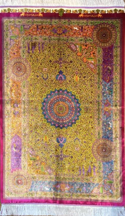QUMsilk AMIRIZADEH工房 ザロニムサイズ 約150x100